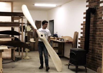 Manufacturing the wooden propellers