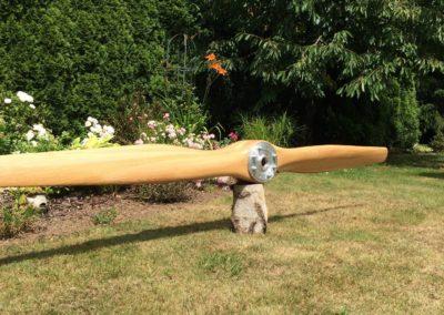 Axial Fokker DR.I propeller, 250cm, ash, satin finish