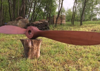 SPAD 7 propeller 233cm, ash, mahogany stain + satin finish