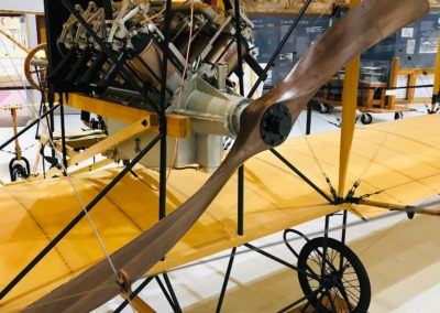 Curtiss Pusher with our prop, Pearson Air Museum, U.S.A.