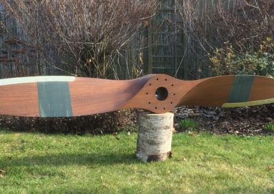 Avia propeller 200cm, ash, brown stain + varnish, brass sheathing