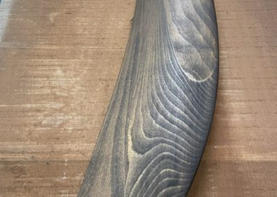Patina on beech wood stained to brown